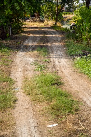traction: dirt road in country Thailand Stock Photo