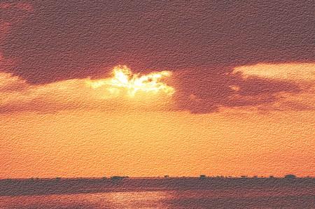 art grunge sunset background