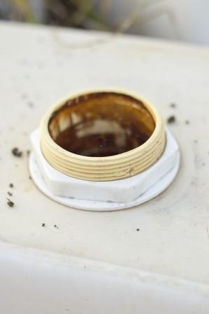 hole: hole plastic lid Stock Photo