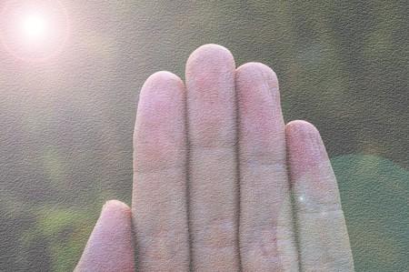 five fingers: art grunge five fingers background Stock Photo