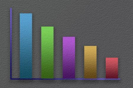 art color graph illustration background Stock Photo