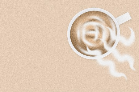grunge coffee cup on brown illustration background