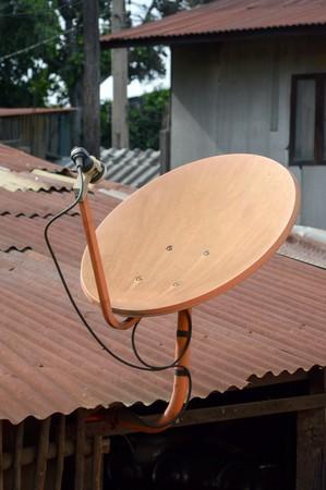 satellite dish: antena Foto de archivo