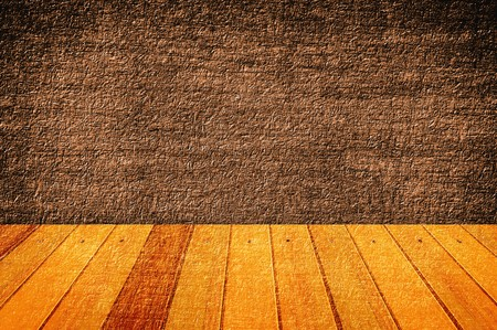 dirty room: floor wooden with grunge brown illustration background