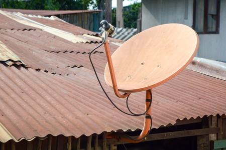 antena parabolica: antena Foto de archivo