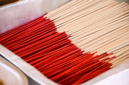 Many of incense sticks Banco de Imagens - 48469820