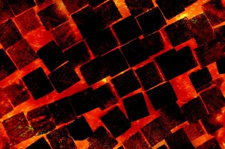 wood fire: art fire burning wood pattern illustration background