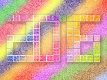 celebration background: Happy new year celebration 2016 colorful illustration background