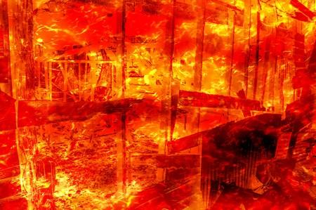 wood fire: art fire burning wood home pattern illustration background Stock Photo