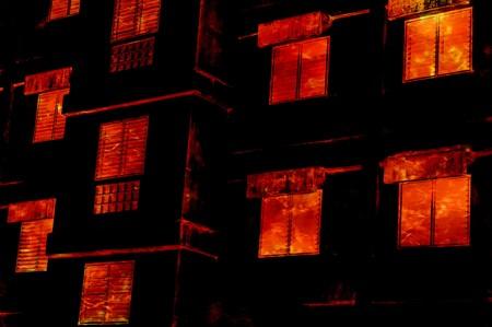 art fire burn building illustration background