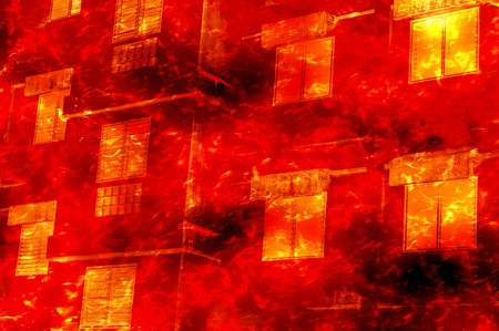 building fire: art fire burn building illustration background