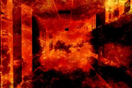 resplandor: arte quemadura fuego patrón de casa ilustración de fondo