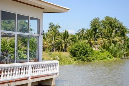 chachoengsao: waterfront in Chachoengsao Thailand Stock Photo
