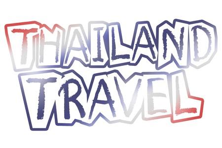 Text thailand Illustration Hintergrund Standard-Bild - 49217992