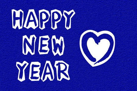 celebration background: Happy new year celebration blue color illustration background
