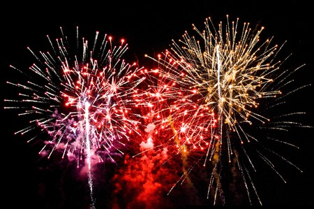 fireworks display: A large Fireworks Display event background Stock Photo