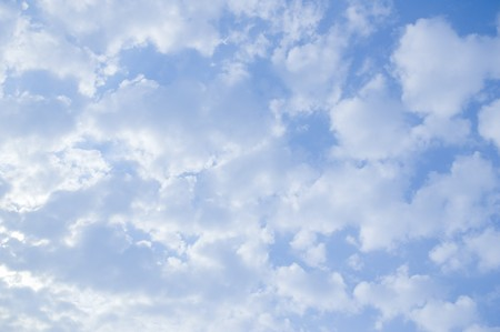 bright sky: blue sky and white cloud Stock Photo