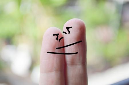 fingers: hug fingers