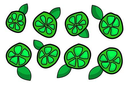 green lime illustration