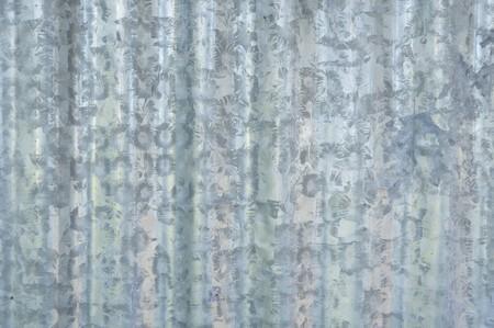 ribbed: zinc wall texture Stock Photo