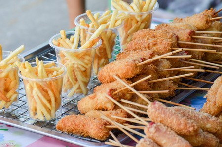 crispy chicken and french fries