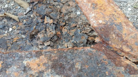 crack: old crack rusty iron