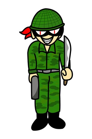 brigand: military thief cartoon illustration