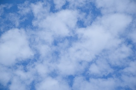 blue sky and white cloud Reklamní fotografie