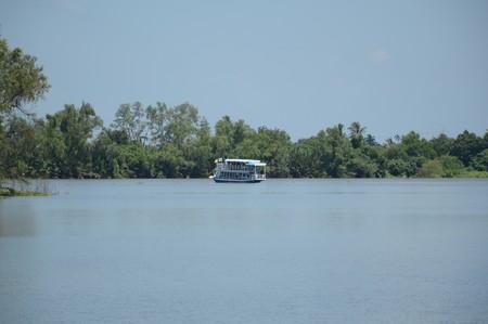 rivulet: Bangprakong river in chachoengsao thailand