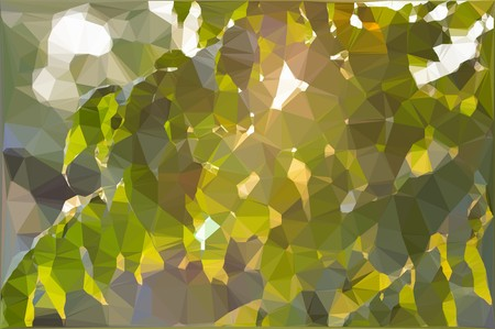 art polygon leaves background