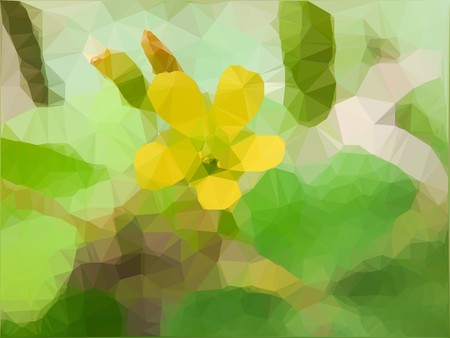 art polygon yellow flower