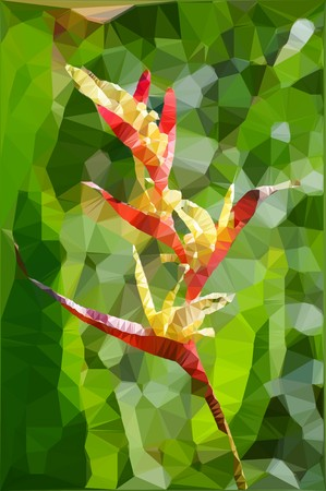 heliconia: art polygon Heliconia flower