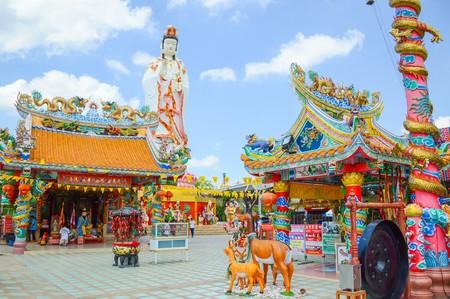 chachoengsao: CHACHOENGSAO, THAILAND, NOVEMBER 28: Wat Saman Rattanaram , Chinese temple in Chachoengsao Thailand Editorial