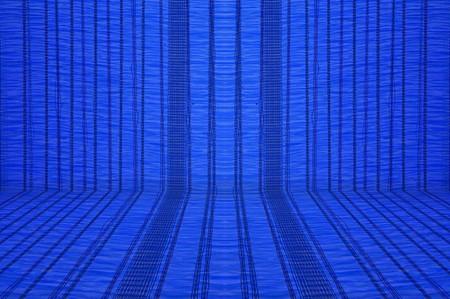 to shading: blue sun shading net texture Stock Photo