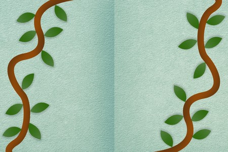 ivy on green illustration background