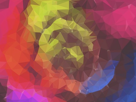 petal: art colorful polygon petal illustration background Stock Photo