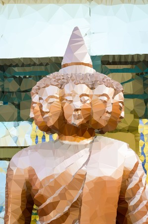 art polygon buddha statue