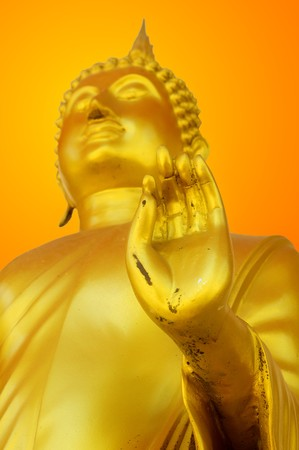 gouden boeddha standbeeld Stockfoto