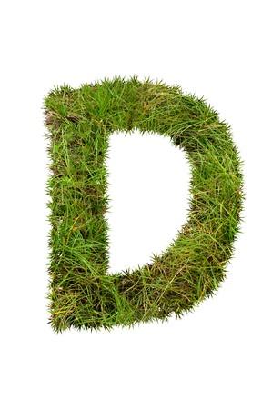 d: grass font - D