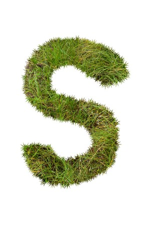 grass font: grass font - S Stock Photo