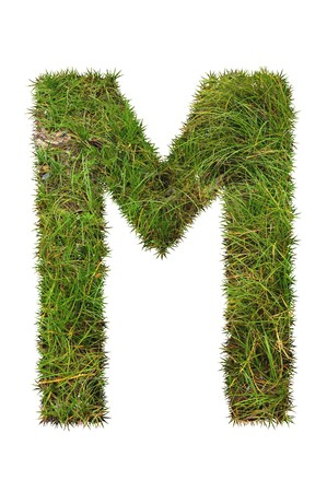 grass font: grass font - M Stock Photo