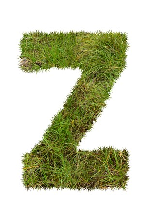 grass font: grass font - Z Stock Photo