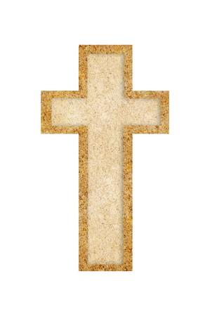 grunge cross: grunge brown cross illustration background