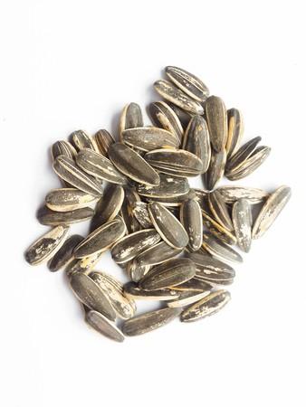 sunflower seeds: sunflower seeds on white paper