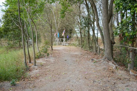 existence: walkway natural existence and use of the home in Nakhon Nayok Thailand