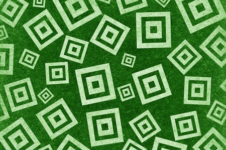 square detail: art grunge green square abstract pattern illustration background Stock Photo
