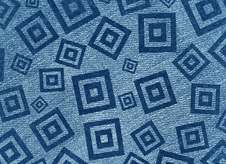 square detail: art grunge blue square abstract pattern illustration background Stock Photo