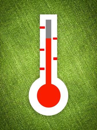 art thermometer on grunge green illustration background
