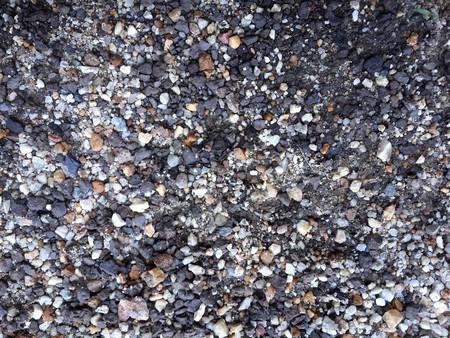 gravel: gravel on the ground Stock Photo