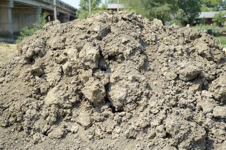 mound: mound soil in nature garden